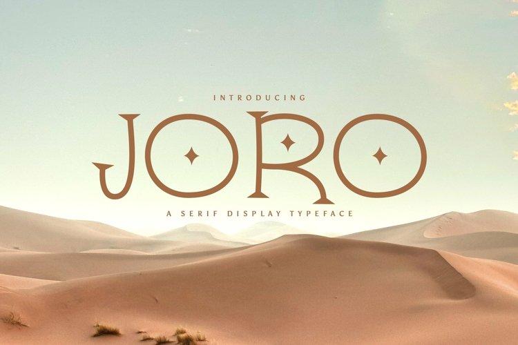 Web Font Joro example image 1