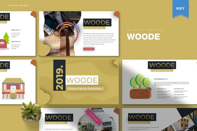 Woode| Powerpoint, Keynote, Google Slides Template example image 1