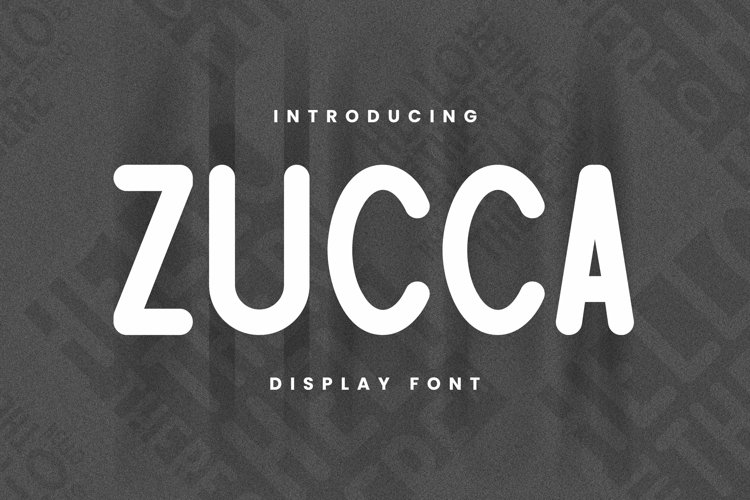 Web Font Zucca Font example image 1