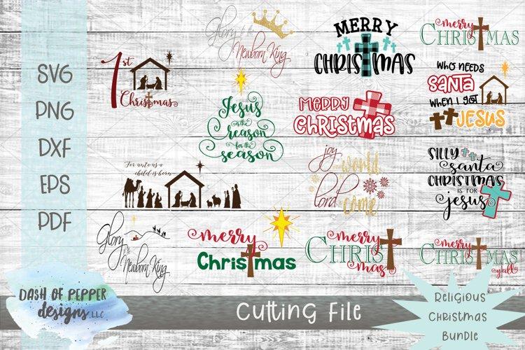 Religious Christmas Bundle - 14 SVG Designs