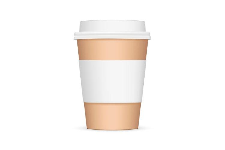 Cardboard coffee cup with sleeve mockup example image 1