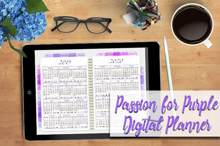 Digital Planner A Passion For Purple