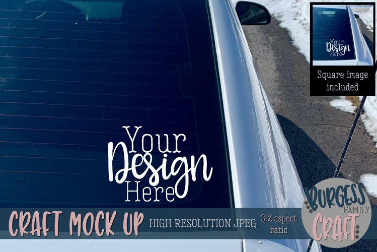 Rear car window Craft mock up |High Res JPEG example image 1