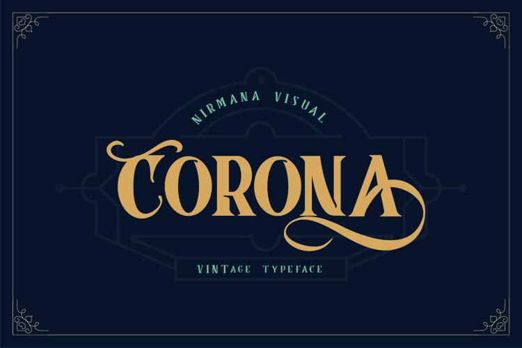 Corona Vintage Typeface example image 1