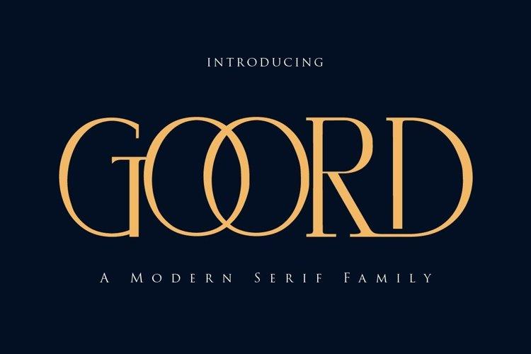 Goord - Modern Serif Family example image 1
