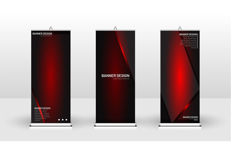 Vertical banner template design. example image 1