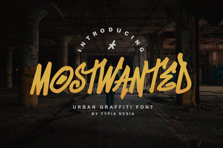MostWanted Graffiti Font example image 1