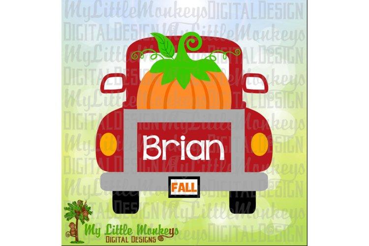 Vintage Truck Back Pumpkin