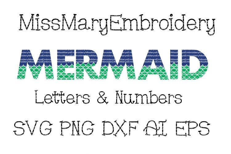 Mermaid Letters Svg Cutting File Png Dxf Ai Eps 71114 Cut Files Design Bundles