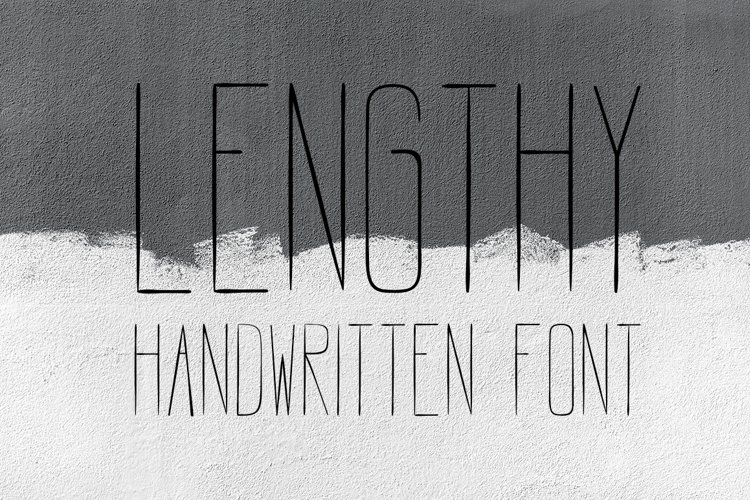 LENGTHY | All Caps Brush Font example image 1