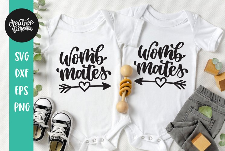 Womb Mates SVG, Twins SVG, Baby SVG example image 1