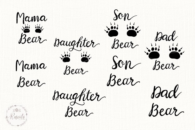 Mama Bear SVG, Dad, Brother, Sister