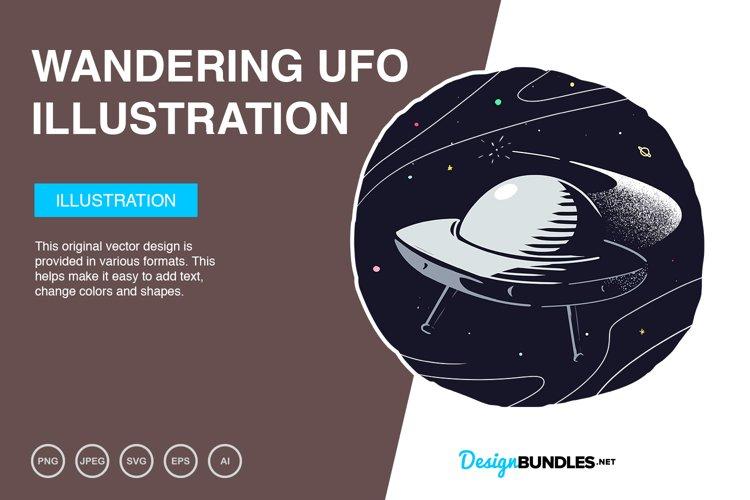 Wandering UFO Vector Illustration