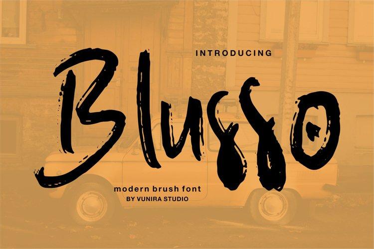 Blusso | Modern Brush Font example image 1