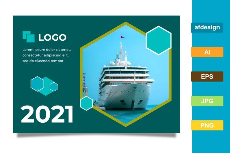 Hexagonal Theme 2021 Calendar Template example image 1