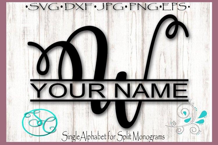 Split Monogram Letter W Single Letter File example image 1