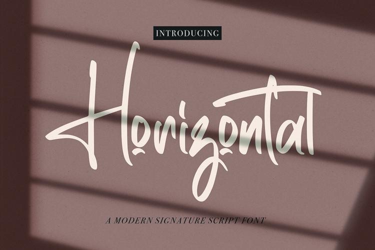 Web Font Horizontal - Signature Script Font example image 1