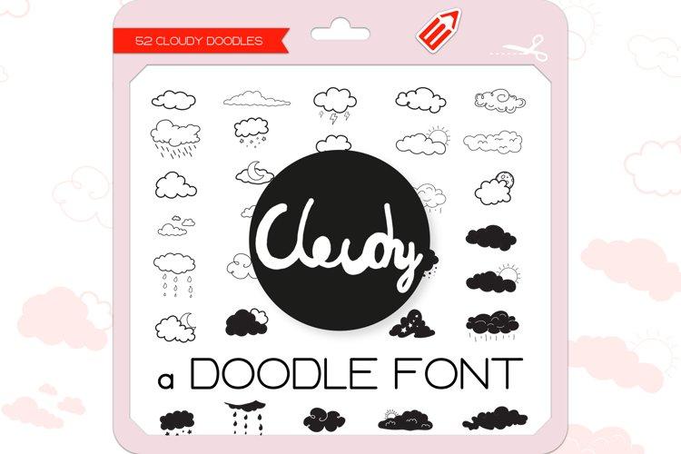 Cloudy Doodles - Dingbats Font example image 1