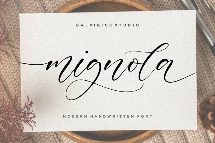 mignola Modern Handwritten Font example image 1
