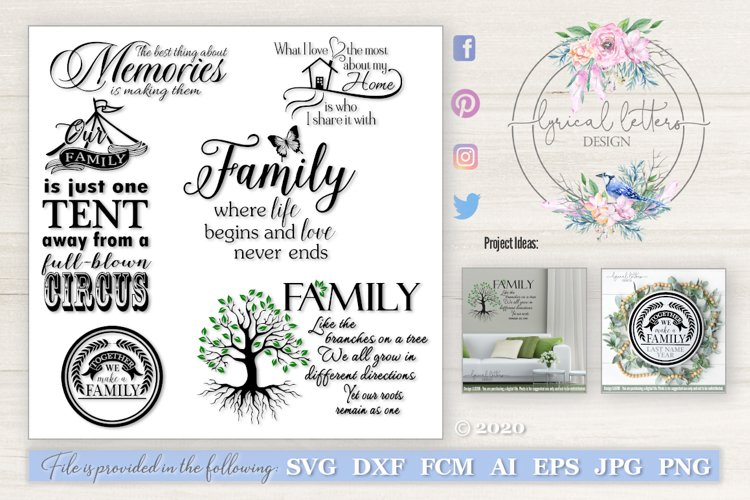 Family Tree Bundle of 6 Designs LL039