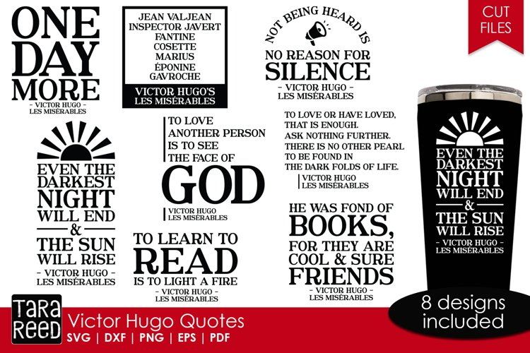 Victor Hugo Quotes from Les Miserables - SVG & Cut Files