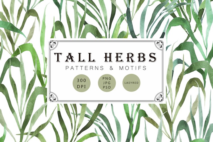 Tall herbs | patterns & motifs example image 1