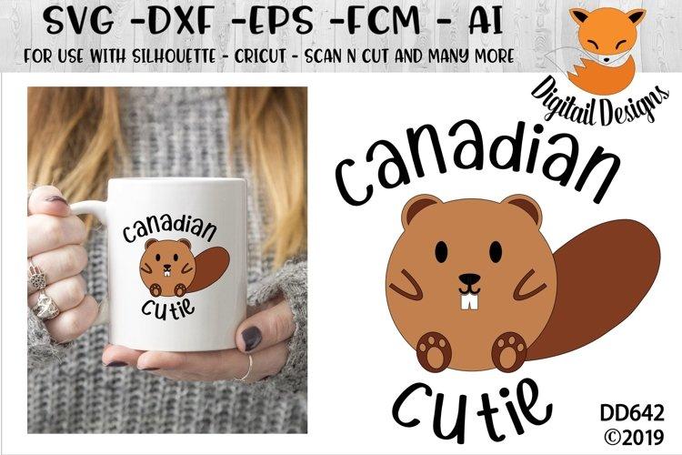 Canadian Cutie Beaver SVG example image 1