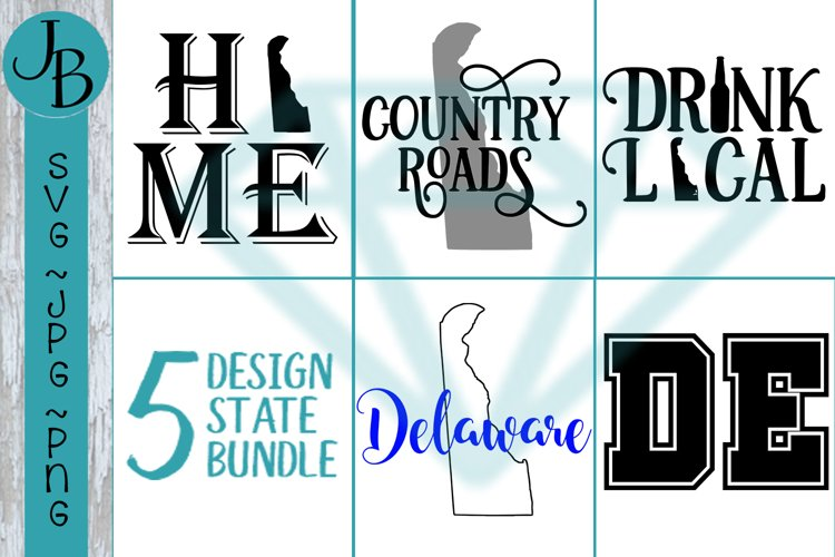 Delaware State Pride Bundle, DE SVG Bundle