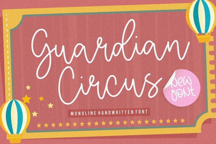 Guardian Circus Monoline Handwritten Font example image 1
