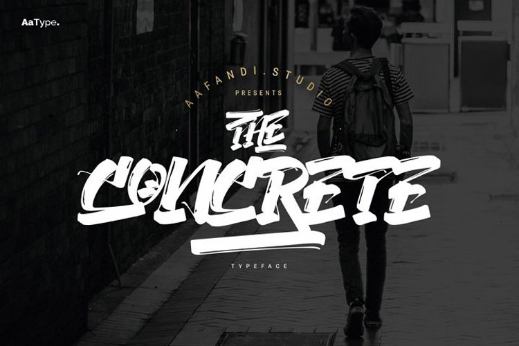 The Concrete Street Graffiti Font example image 1