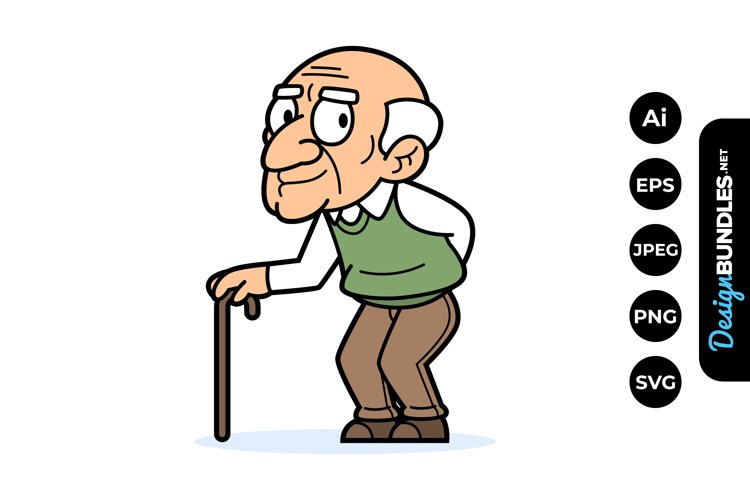 Old Man Clipart example image 1