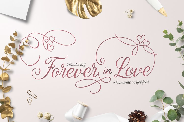 Forever in Love Script Font example image 1