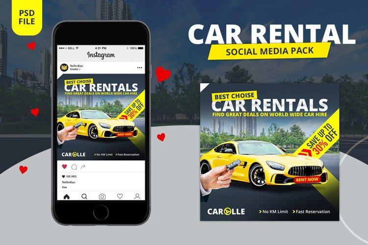 Car Rental Social Media Pack example image 1