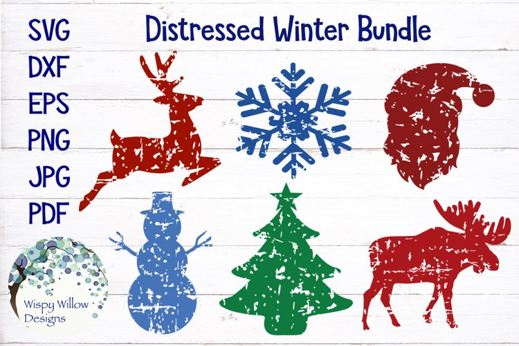 Distressed Grunge Winter SVG Bundle | Christmas SVG Bundle
