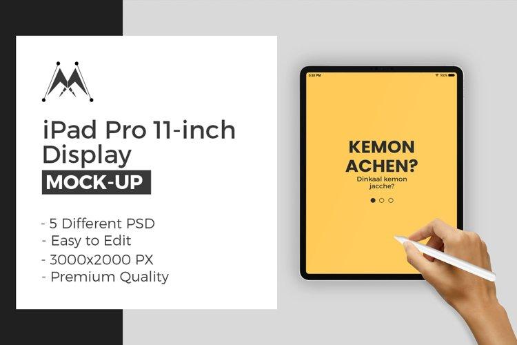 iPad Pro 11-Inch with Hand Mock-Up Set