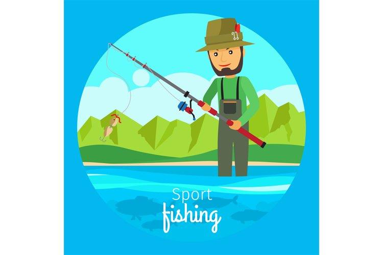 Sport fishing vector concept