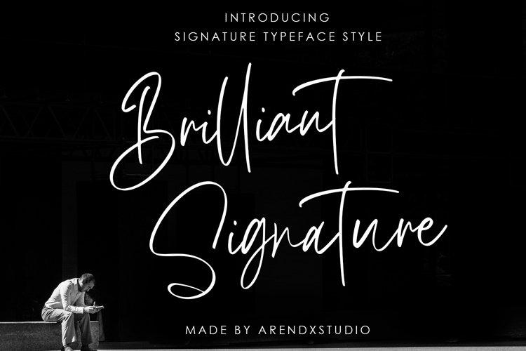 Brilliant Signature Logotype Font example image 1