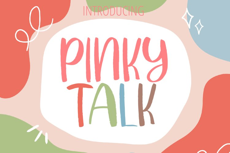 PINKY TALK Display Font example image 1
