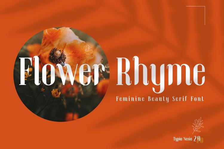 Flower Rhyme