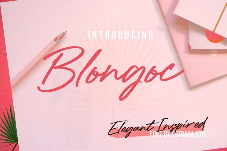 Blongoc Script example image 1