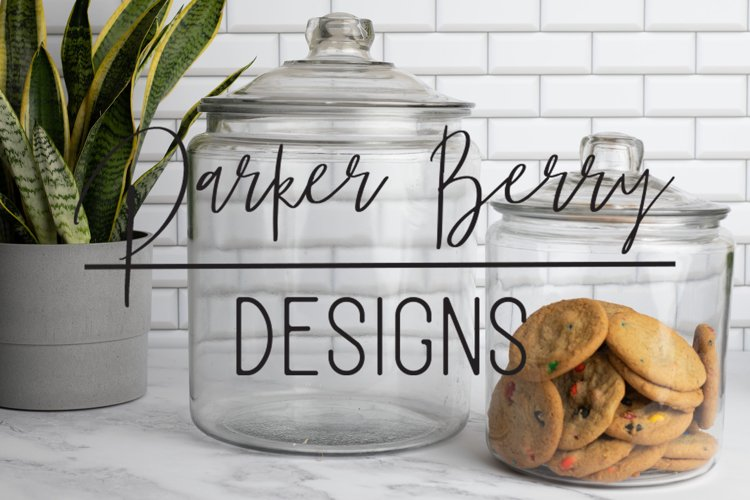 Two jars, one with cookies Mock up, for svg, png design