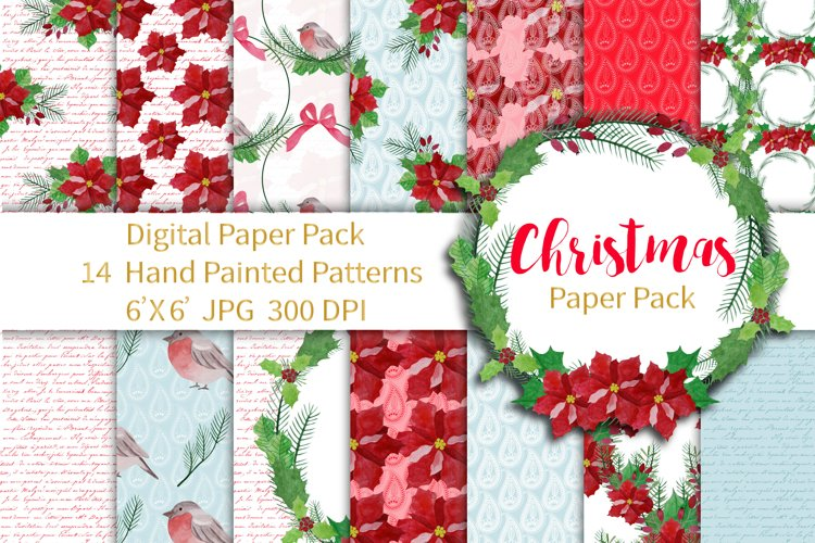 Christmas Paper Pack Seamless Patterns example image 1