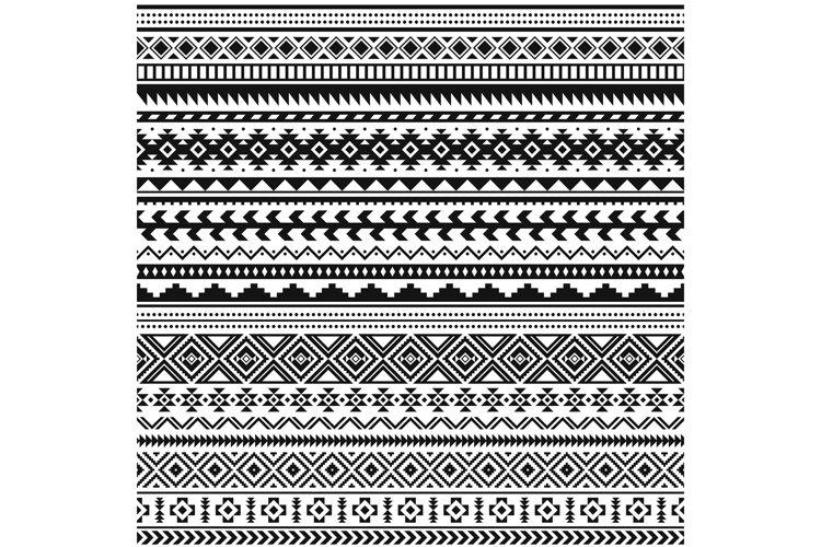 Download Tribal Indian Borders Black White Geometric Pattern Seamle 1028398 Patterns Design Bundles