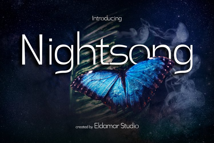 Nightsong Font example image 1