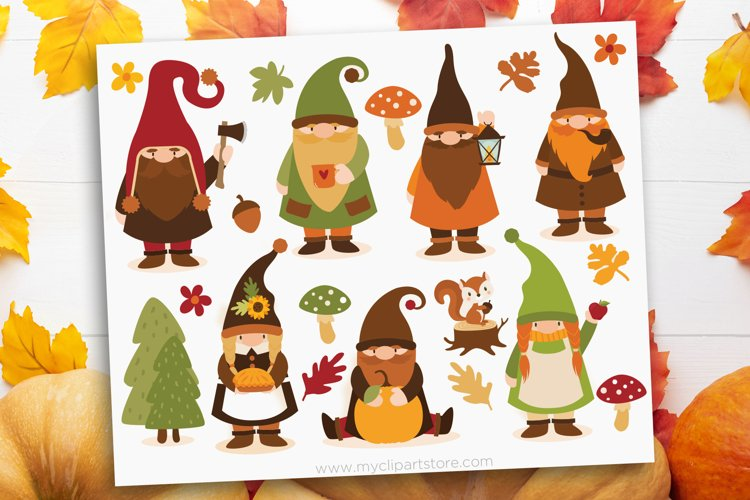 Scandinavian Fall Gnomes Clipart - Vector Clip Art & SVG example image 1