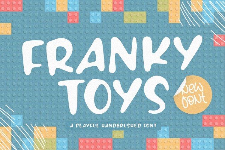 FRANKY TOYS Playful Handbrushed Font example image 1