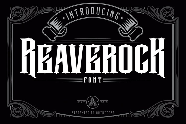 Reaverock Display Font example image 1