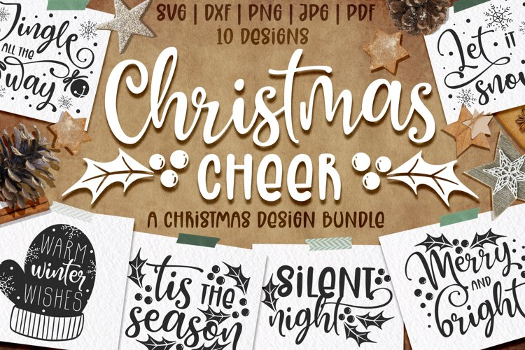 Christmas quotes SVG | Cut files | SVG PNG JPG PDF DXF example image 1