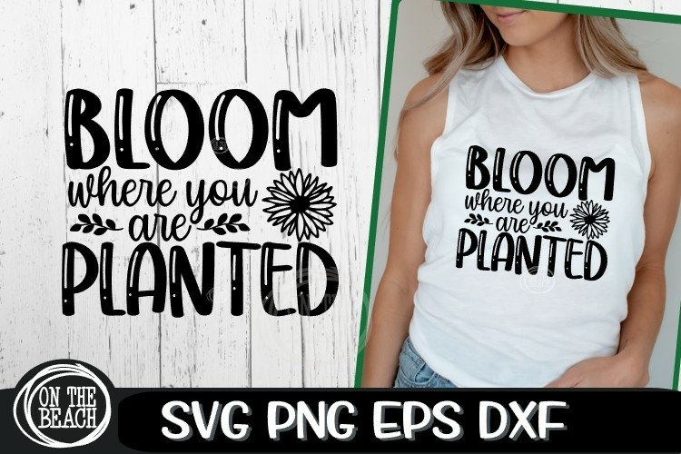 Bloom Where You Are Planted - Garden - SVG PNG EPS DXF