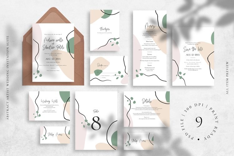 Abstract Artist Wedding Invitation Suite example image 1